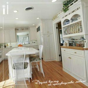 Белая глянцевая кухня. Atr - 4108