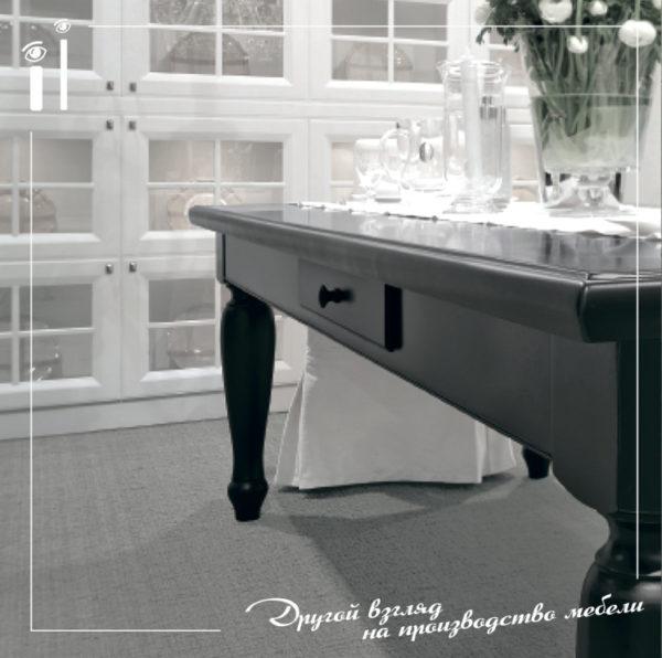 Черный классический стол. Art - 6111