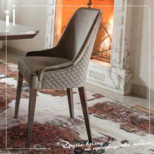Обеденный стол и стулья со стеганной отделкой. Art - 6105