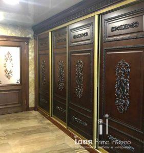 Шкафы купе в классическом стиле по индивидуальному заказу в Краснодаре