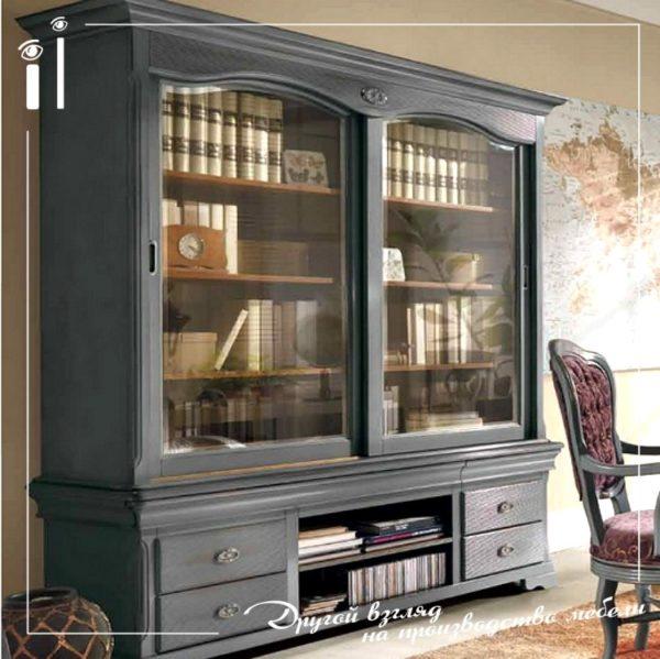 Библиотека в классическом стиле из массива. Art - 12107