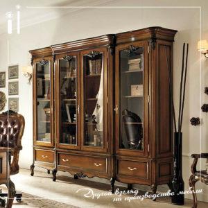 Книжный шкаф в классическом стиле. Art - 12102