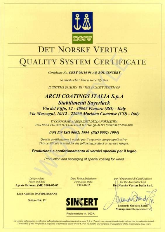 Сертификаты подтверждающие пожаробезопасность лакокрасочного покрытия мебели