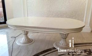 Обеденный стол реплика итальянского стола. Массив. Производство в Краснодаре