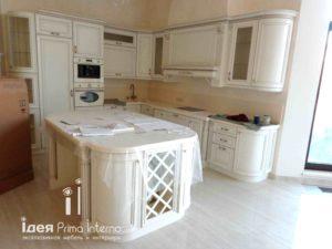 Белая кухня с островом на заказ!