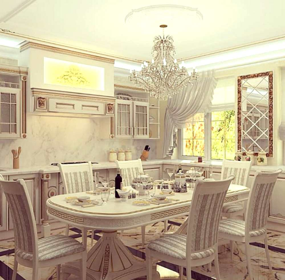 Обеденный стол в классическом стиле на кухню