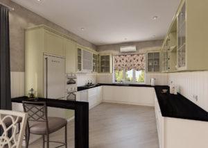 Современная кухня в спокойных светлых тонах