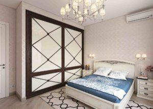 Спальня родителей в современной квартире. Дизайнер Александр Михайловский