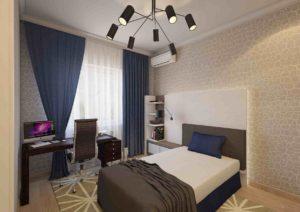 Мебель для спальни мальчика в современной квартире