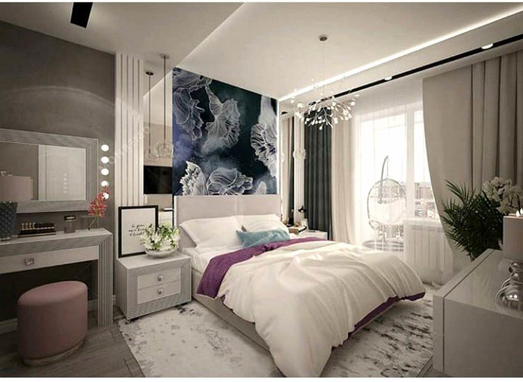 Современная кровать в спальную комнату