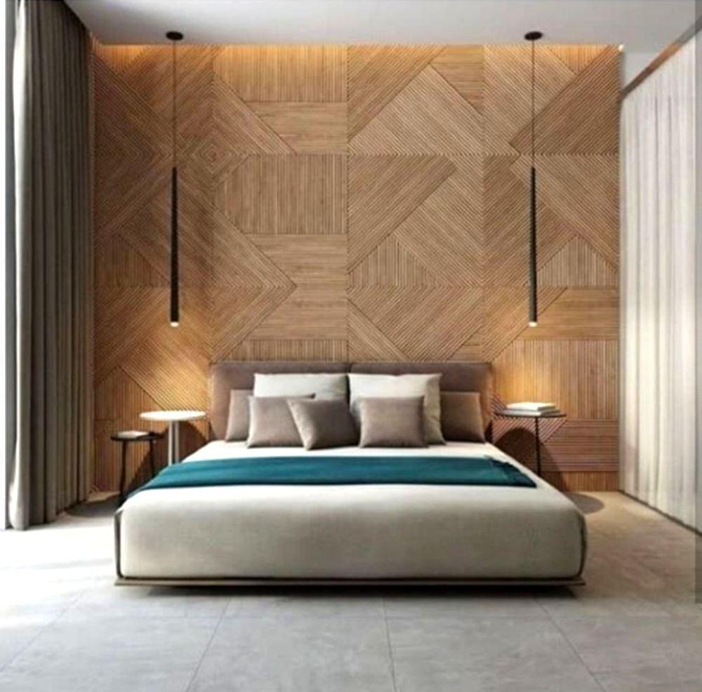 Современная кровать в интерьере Лофт