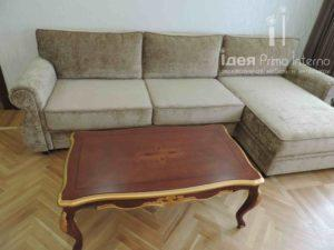Угловой диван и кофейный столик в гостинную на заказ в Краснодаре